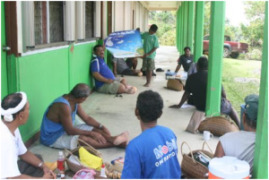 Community consultations in Yap on climate change adaptation and coastal resources  management
